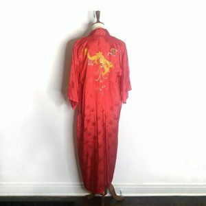 Red embroidered dragon robe   Small
